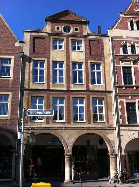 Umbau Fassade Innenstadt Münster
